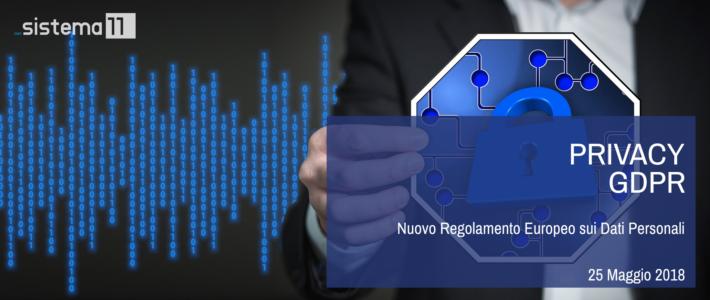 Privacy GDPR – Nuovo Regolamento Europeo sui Dati Personali